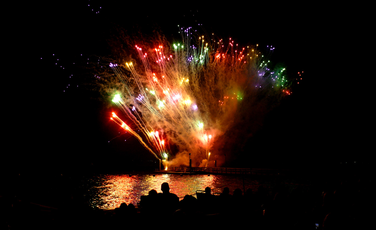 Island Park's Labor Day fireworks were presented by Grucci, whose displays have graced the skies at presidential inaugurations, 4ths of Julys and grand openings across the world.