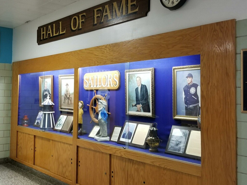 Januszewski founded Oceanside High School's Hall of Fame in 1960. It has since ballooned to occupy an entire hallway.