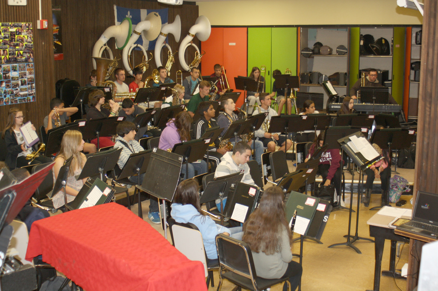 For seven periods every day, students at Lynbrook High School cram into the undersized band room. If the $28.9 million bond proposal is approved Tuesday, new rooms will be built for the band, orchestra and chorus.