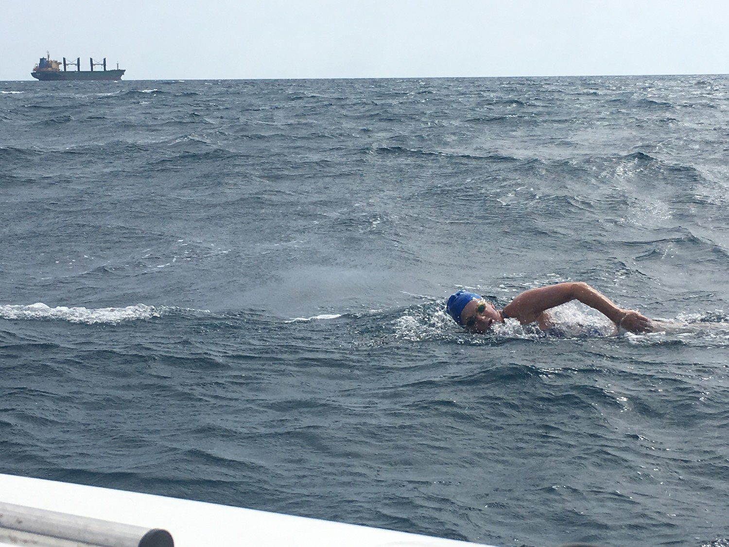 Open-water swimmer Lori King, of Rockville Centre, finished third in the 29th Swimming Marathon of Messinian Gulf in northern Greece earlier this month, completing the 30-kilometer race in 8 hours, 56 minutes.