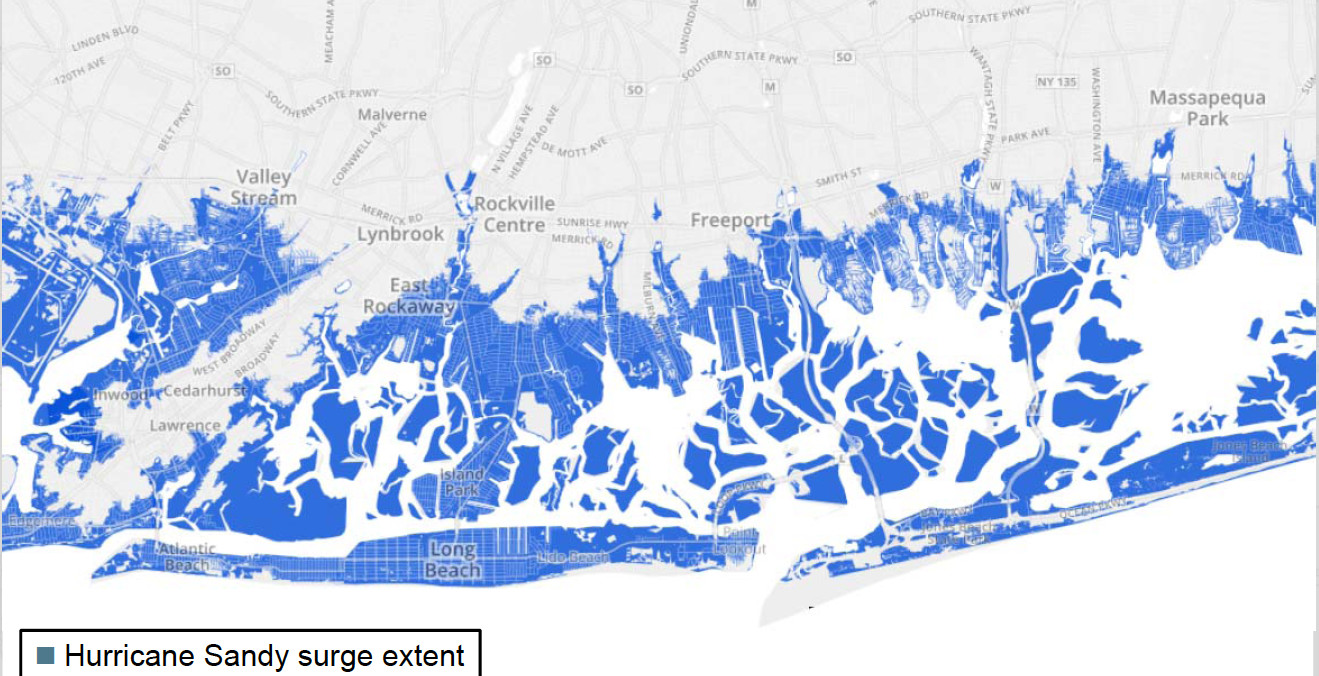 Nassau County's flood risk is high, especially when storms such as Hurricane Sandy strike the South Shore.