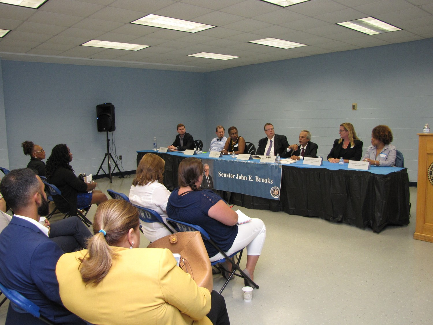 Nassau County housing experts took part in a housing rights and advocacy seminar at the Freeport Recreation Center on Monday and addressed a wide range of housing issues, including zombie homes.