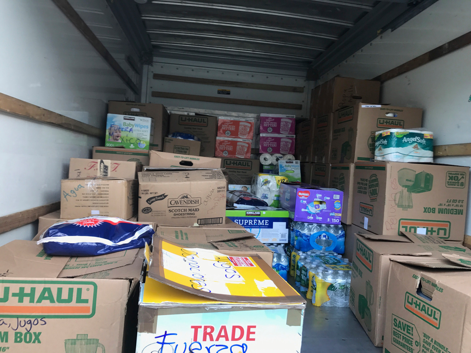 A truckload of items collected by Byron Alvarado and others at the Five Towns Community Center will be sent to Mexico to help earthquake victims.