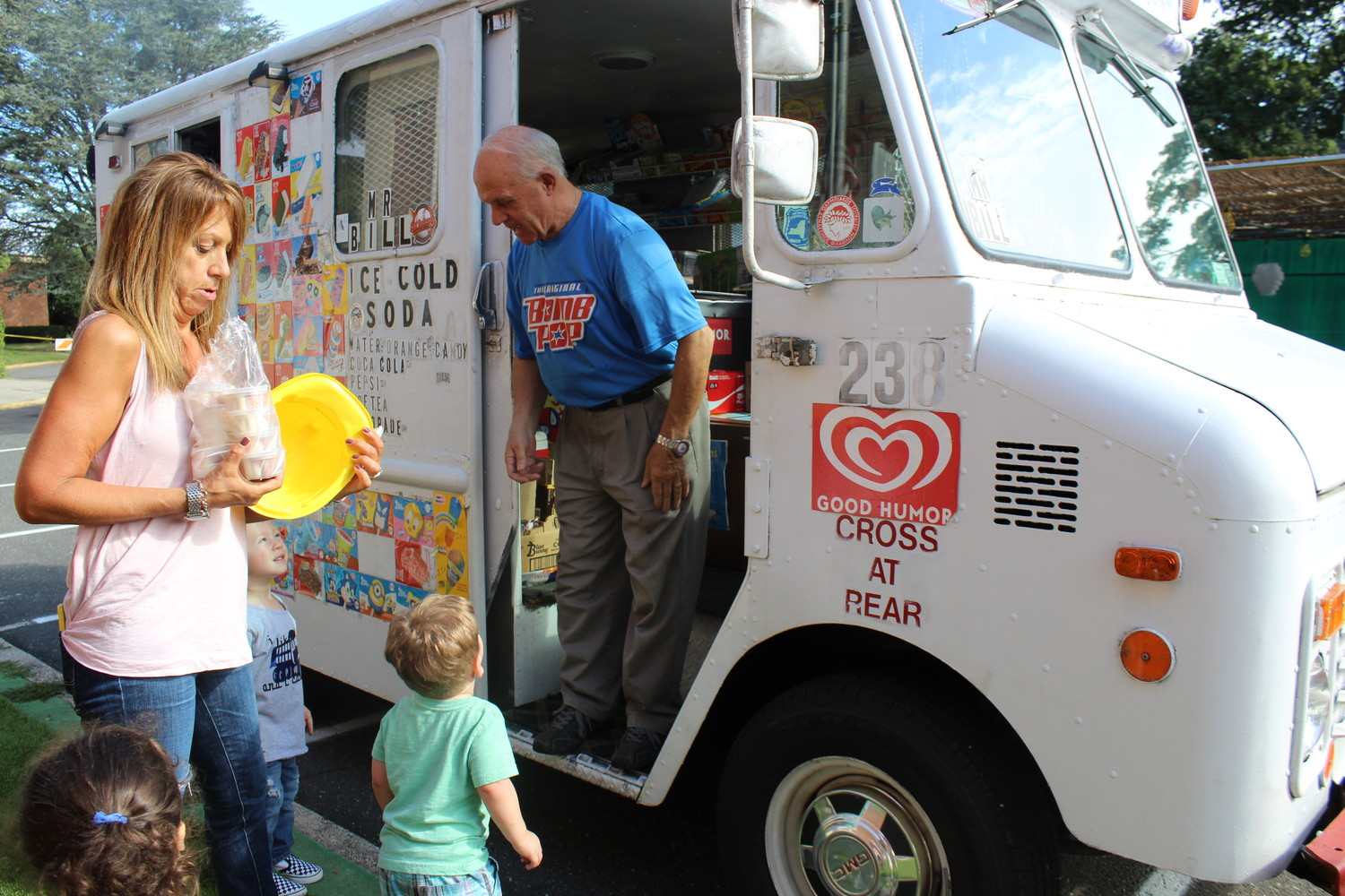 The classes ended their tour of 13 trucks with a visit to Mr. Bill's ice cream truck.