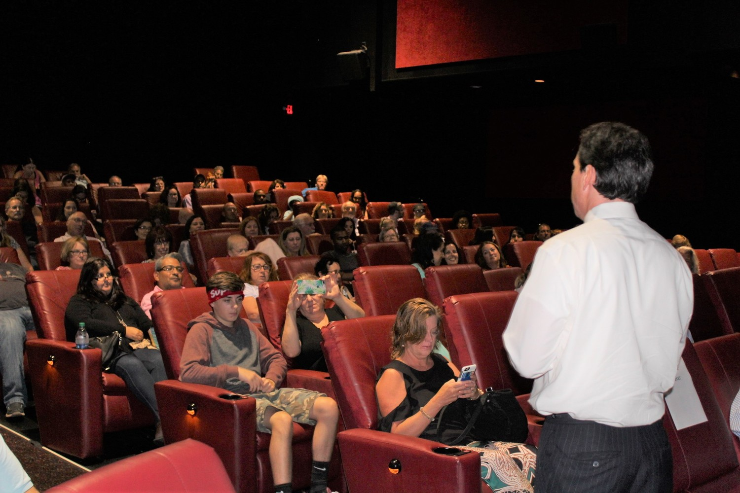 Dozens of Long Islanders turned out for a film screening on Sept. 27 in Rockville Centre, which was followed by a panel discussion about climate change and energy efficiency.