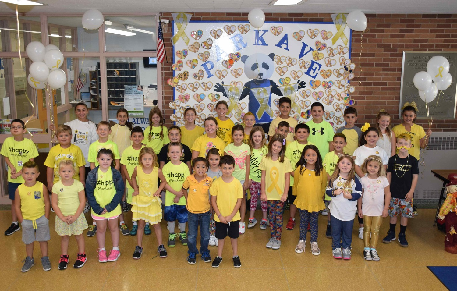 Park Avenue Elementary School students from kindergarten through sixth grade supported the cause.