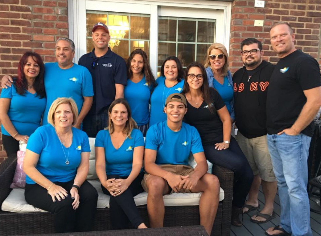 Waves of Hope volunteers Gipsy DiGennaro, clockwise from left, Al Rodriguez, Jim Warren, Christa Salice, Anna Antonacci, Christina Kramer, Norah Kelleher, Christian Lesperance, Tim Kramer, Will Salice, Allison Kallelis and Joan Duffy aid victims of natural disasters.