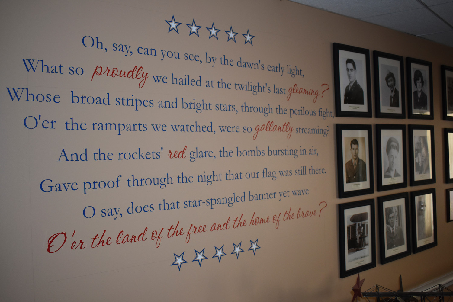 A room on Maple Pointe's second floor is dedicated to the veterans that live at the assisted living center, or have resided there in the past.