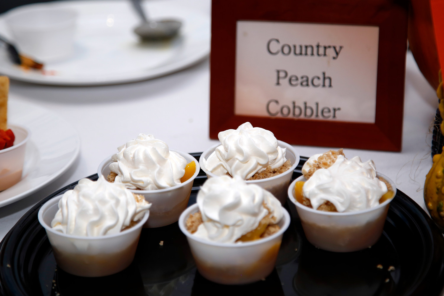 NuHealth at Nassau University Medical Center offered its best country peach cobbler.