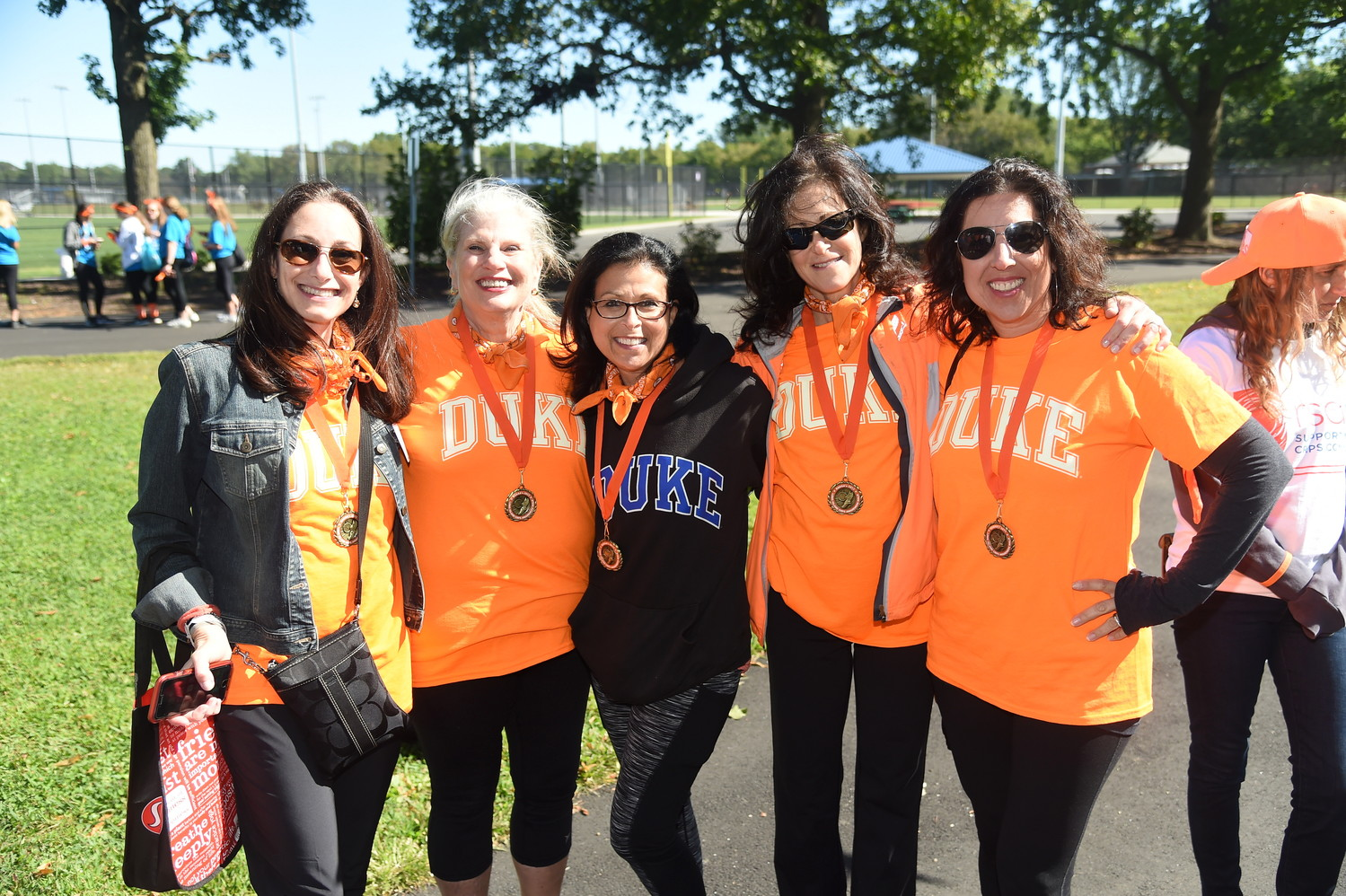 Stacey Udell, who was diagnosed with Complex Regional Pain Syndrome/Reflex Sympathetic Dystrophy six years ago, walked at the second annual RSDSA walk with friends Ellen Lehrman, Wendy Herz and Sheree Levy.