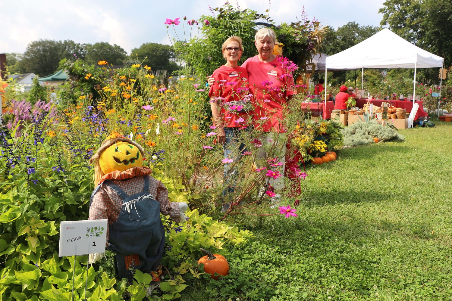 East Meadow Farm Master Gardeners Veronica Caiazza and Nonie Muellers joined community members for the farm's annual Family Fun Day on Sept. 16.