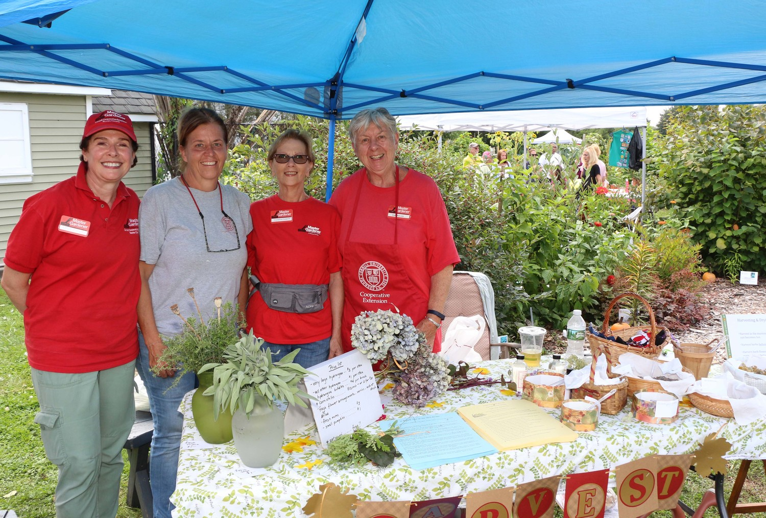 Master gardnerers Karen Zunich, Jennifer Cappello-Rigiero, Veronica Caiazza and Nonie Muellers showcased some of the farm's homegrown herbs.