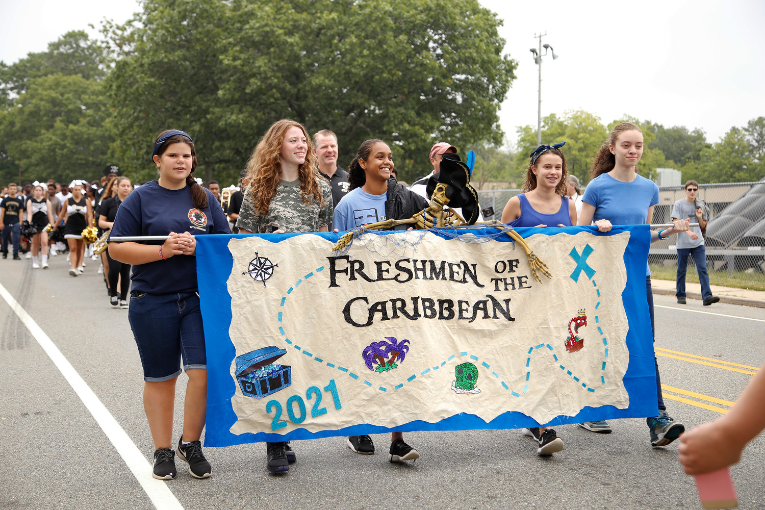 Freshmen of the Caribbean represented the class of 2021 at the parade.