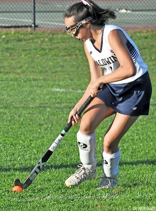 Sophomore midfielder Alexa Stegmuller is Baldwin's best stickhandler and a big part of the program's future according to coach Mike Hoover.