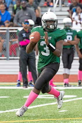 Senior quarterback Brian Jean Baptiste connected with Chester Anderson for two touchdowns in the fourth quarter to help the Spartans defeat South Side last Saturday.