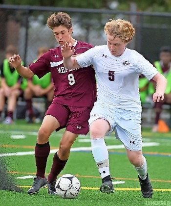 Sophomore Gaetano Parisi, left, is part of a balanced offensive attack for the Pirates, who have already secured a spot in the Nassau Class A playoffs.