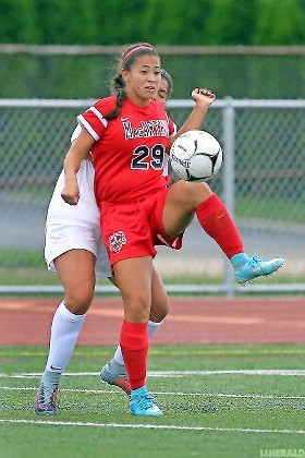 Sara Marcano has played an important role in MacArthur's tremendous 5-0-2 start in Conference AB-2 with eight goals and a pair of assists.