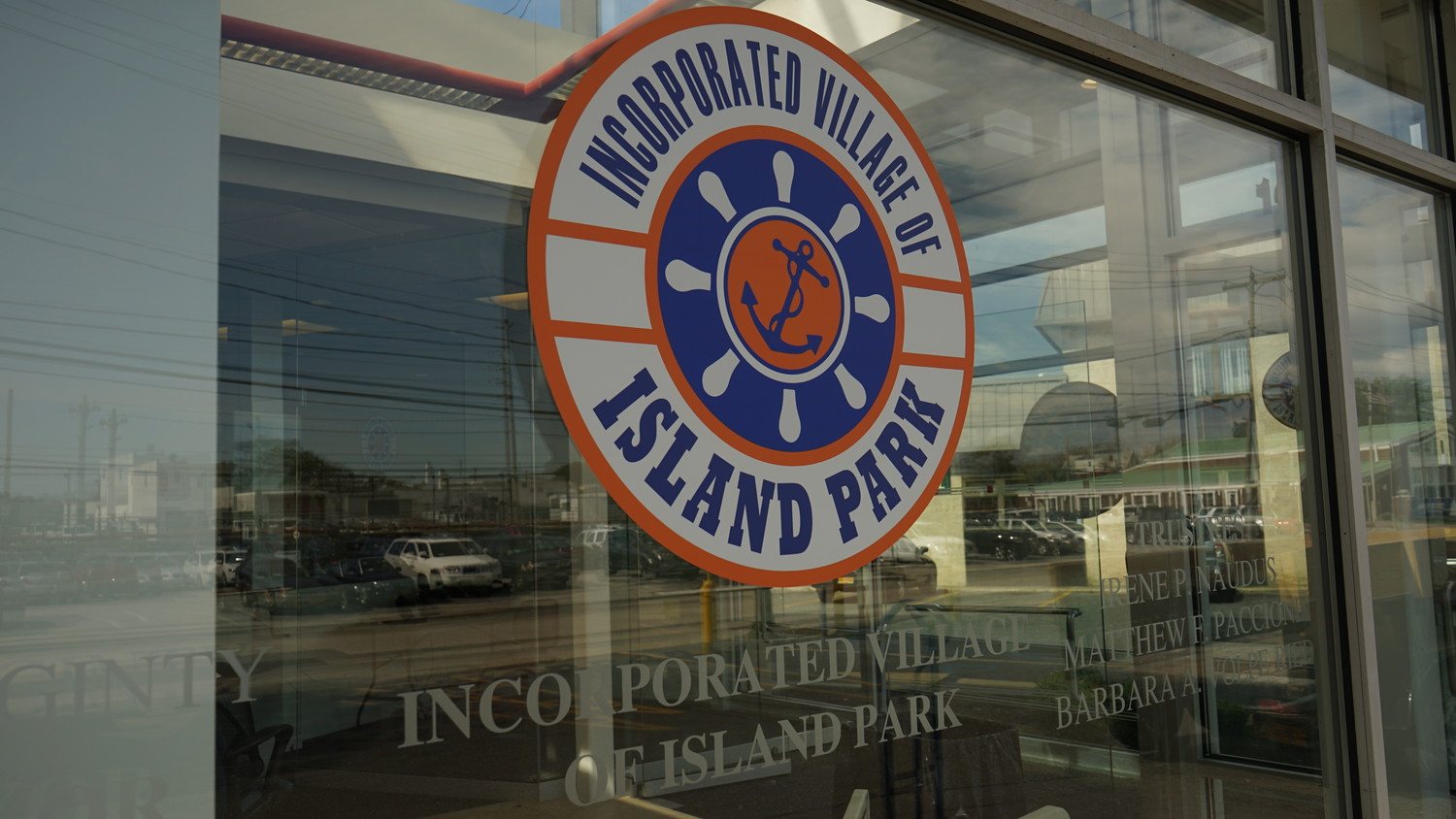 A bank no more: Village signage marks the new Island Park headquarter after the transfer was made official on Aug. 26.
