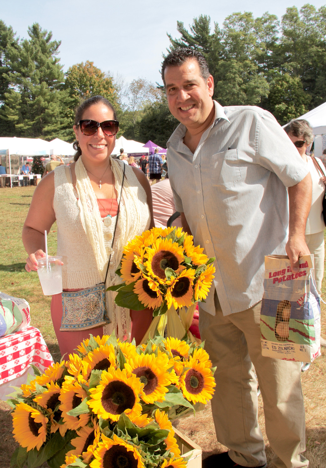 Lindsay and Michael Scaperottoa love attending the Mill Neck Manor's Apple Festival every year.