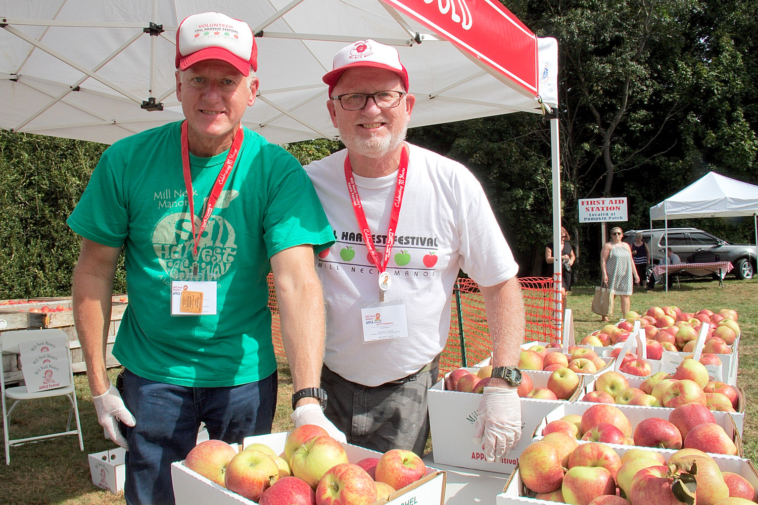 The Rossi brothers helped guests  choose Jonagold apples at the festival.