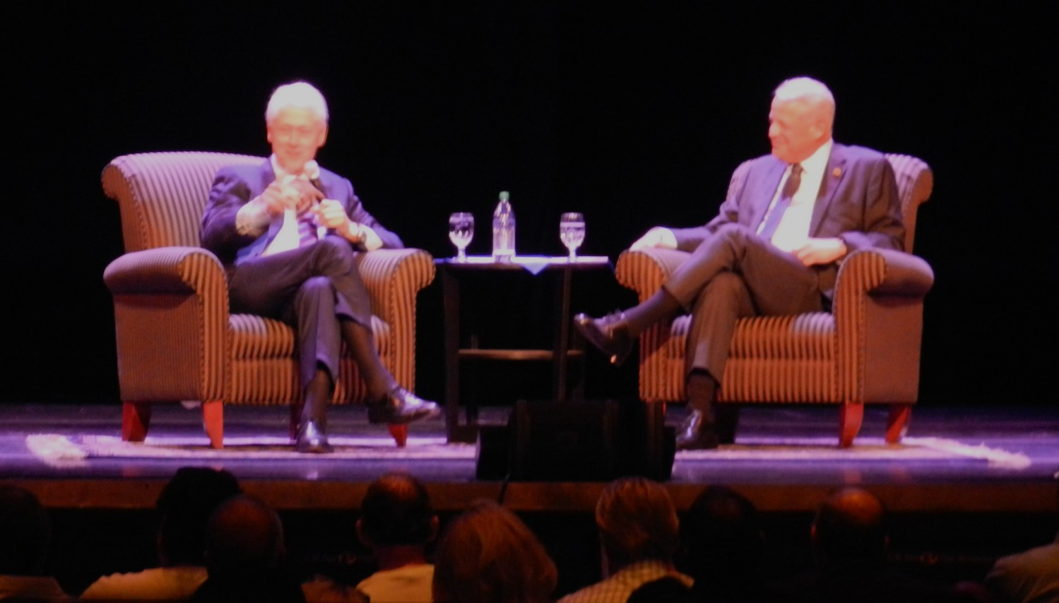Former President Bill Clinton spoke with former Rep. Steve Israel at a Global Institute event on Oct. 5 at LIU.
