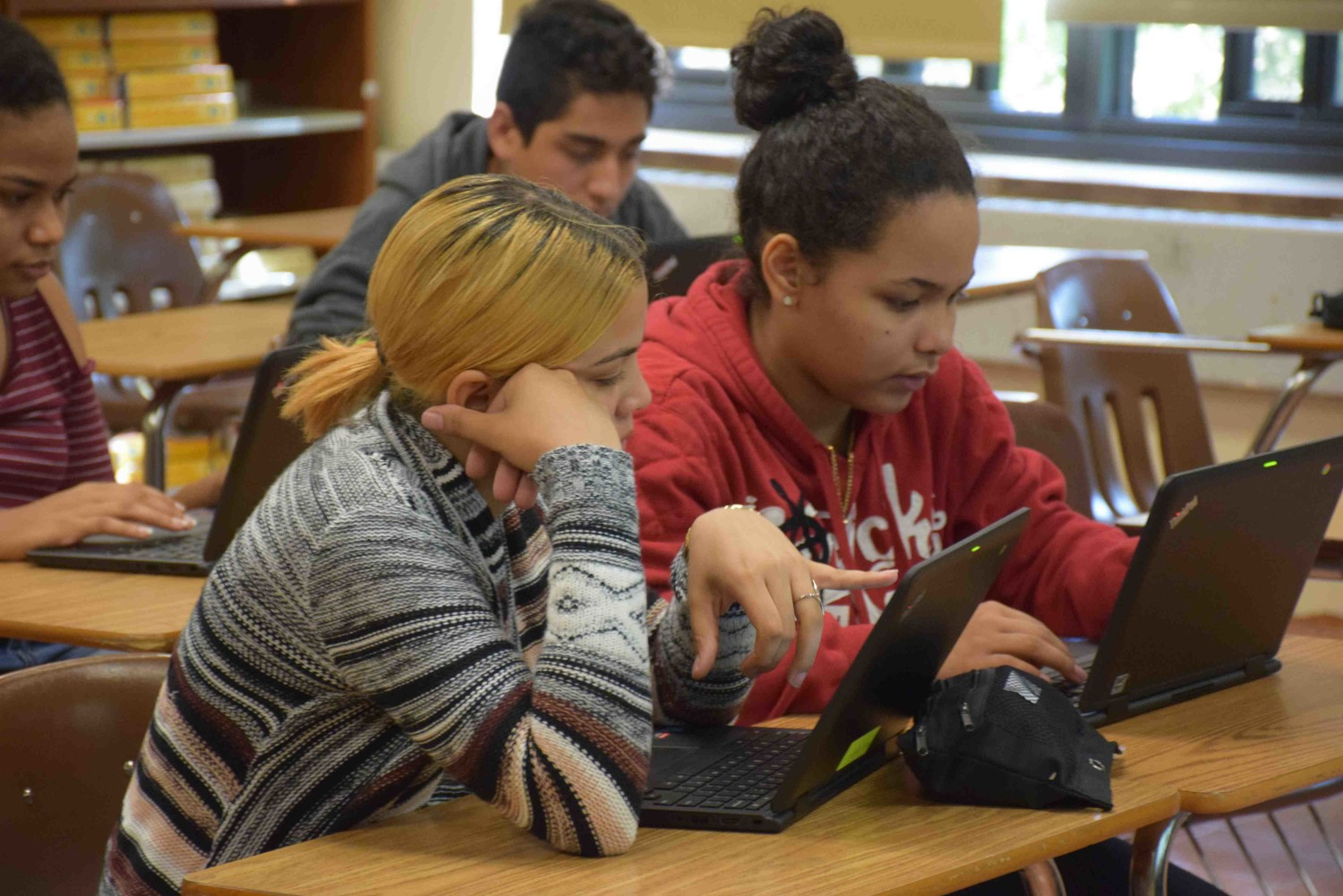 Freeport High School students received new Chromebooks in September as part of the state's Smart Schools Bond programs.