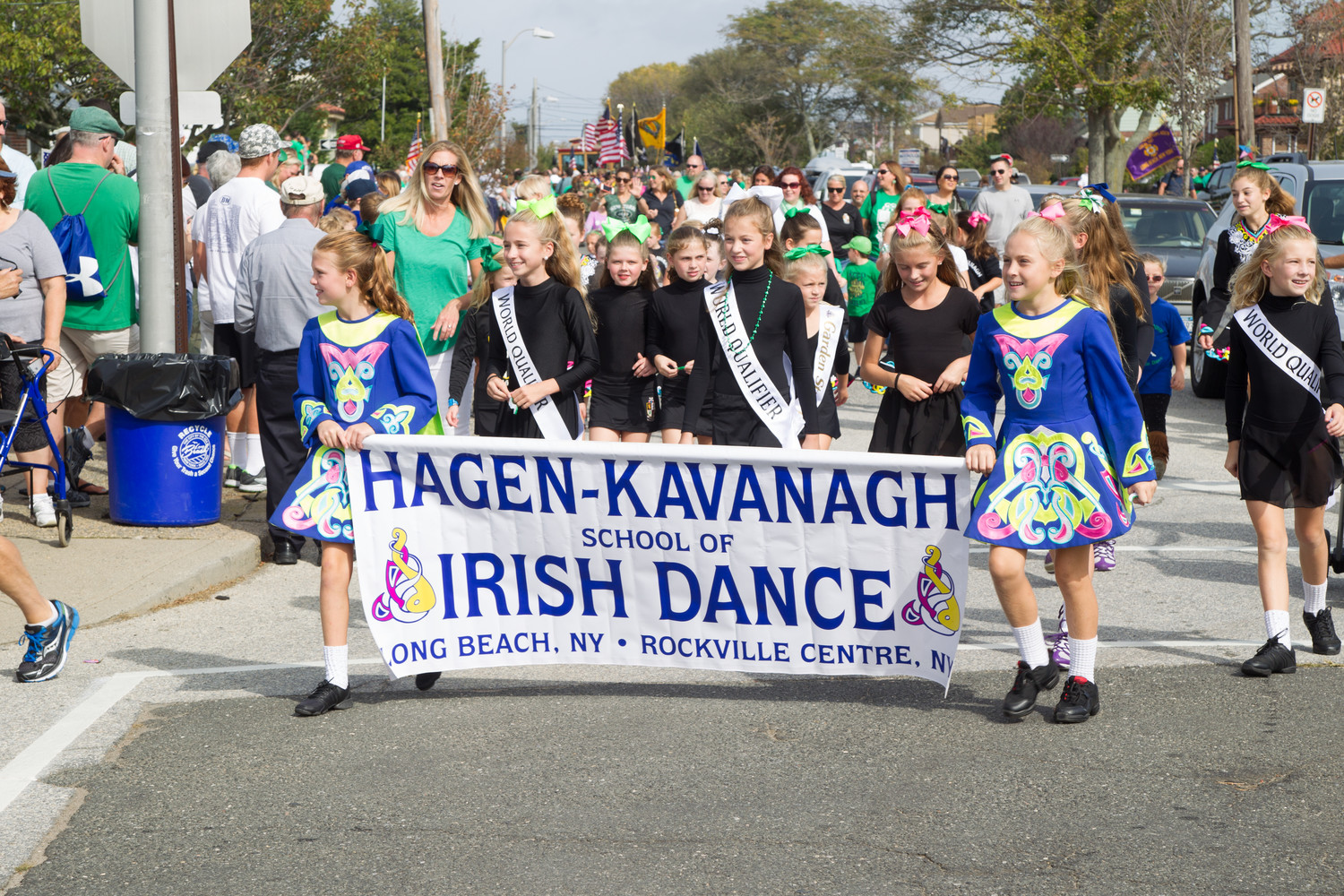 Dancers from the Hagen-Kavanagh School of Irish Dance marched along West Beech Street for the parade.