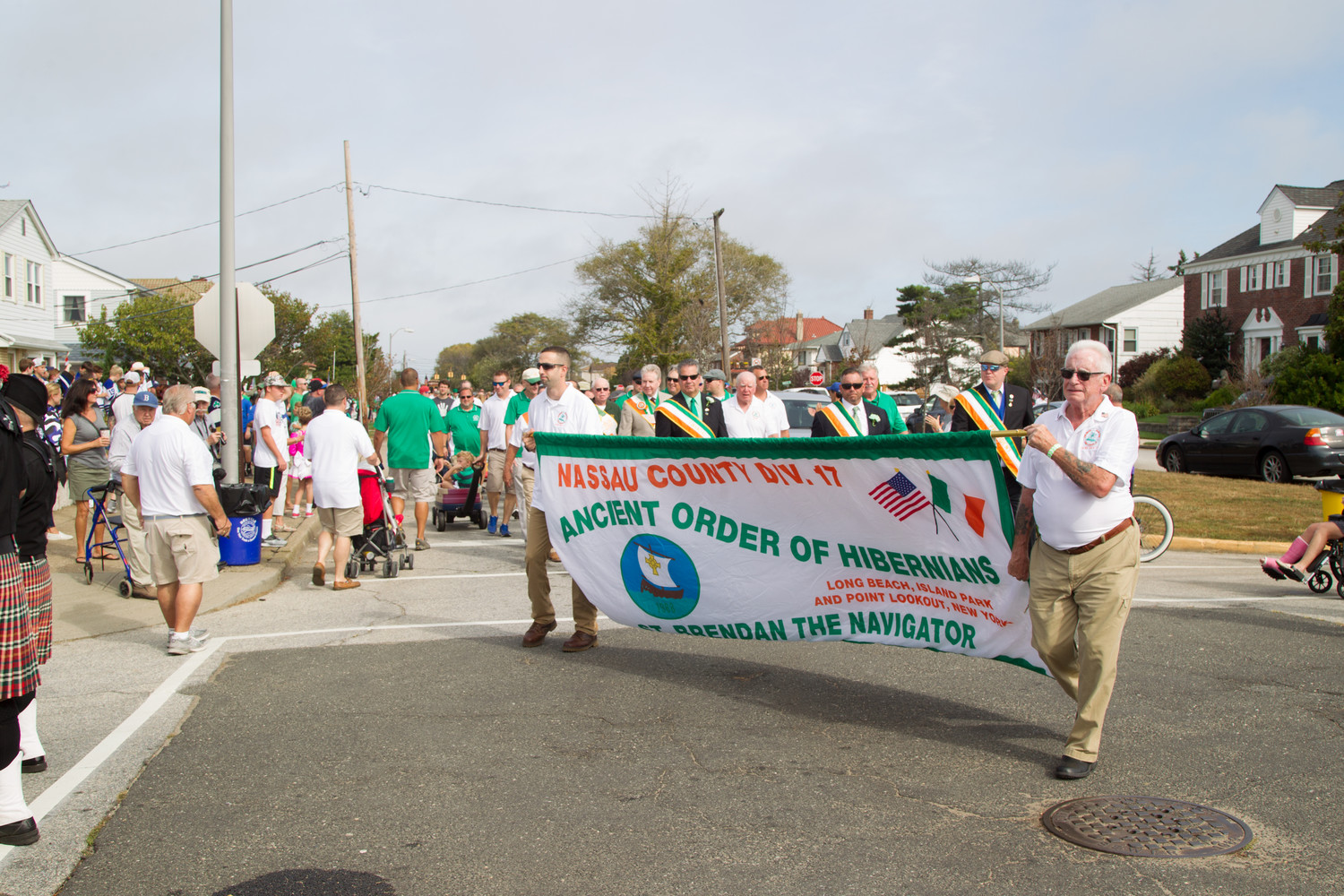 The Nassau County Ancient Order of Hibernians Division 17 — which organized the day's festivities — marched in the parade.