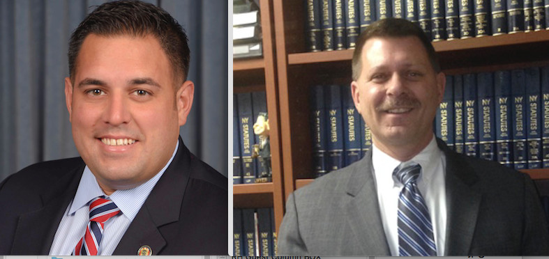 Incumbent Anthony D'Esposito, left, will face off against Douglas Mayer for the Town of Hempstead's District 4 Council seat.