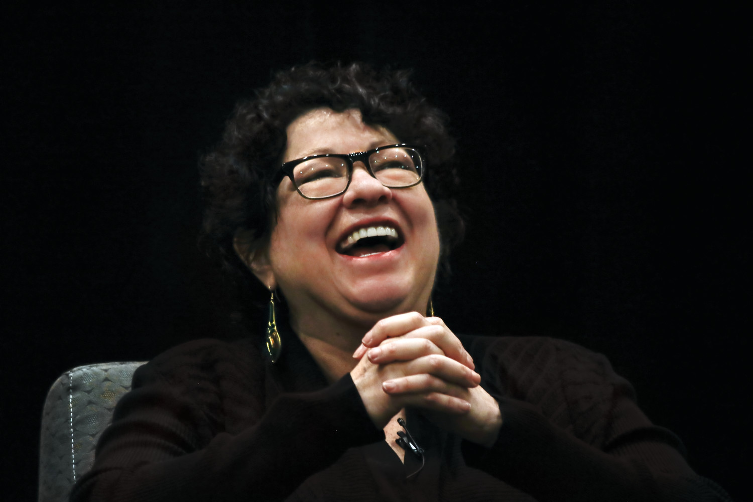 Justice Sonia Sotomayor made it clear that she did not want to miss Monday night's ALCS game during her visit at Hofstra University Law School on Monday.