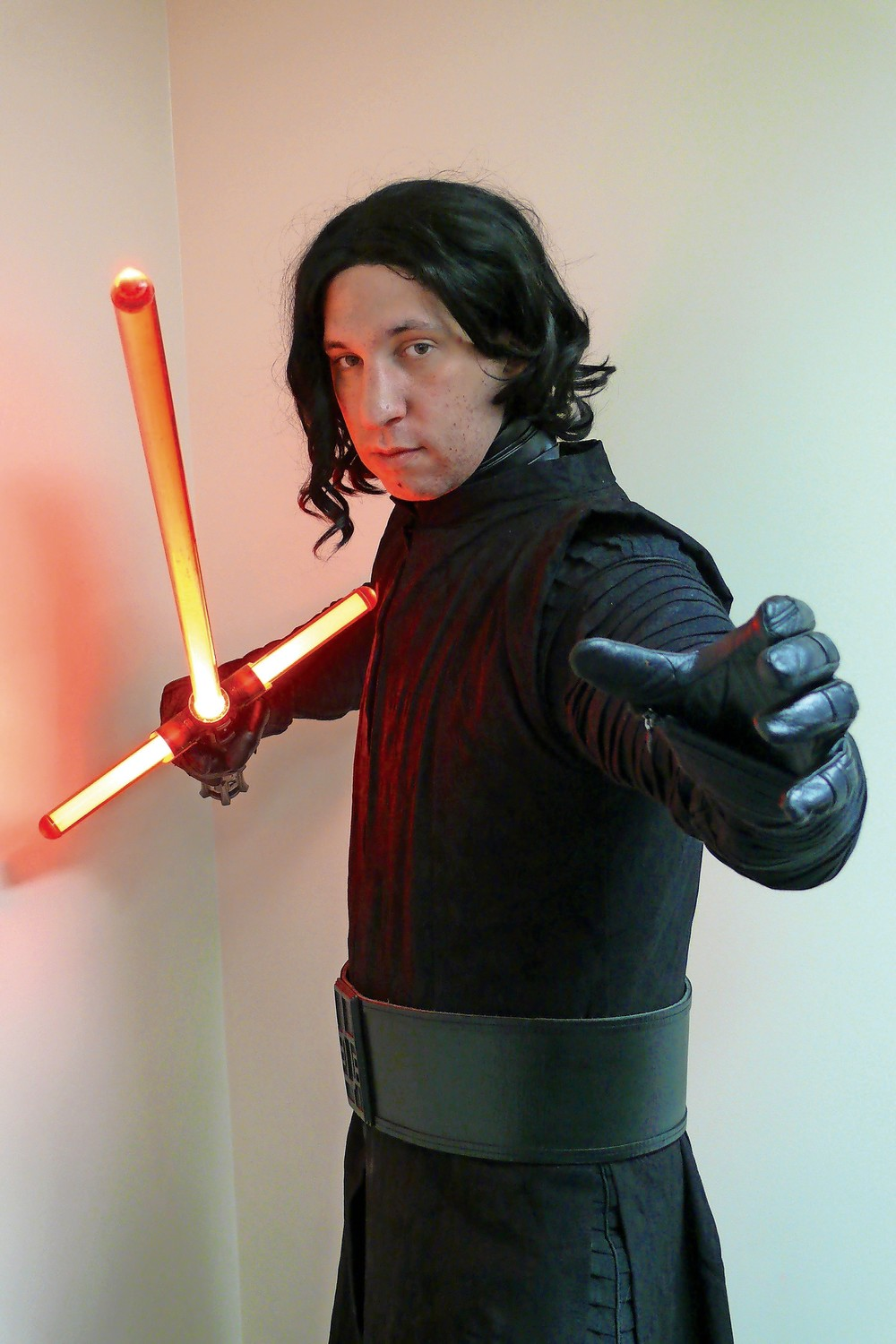 Longtime East Meadow patron Andrew Popeil wore his best Kylo Ren costume, and displayed his saber skills.