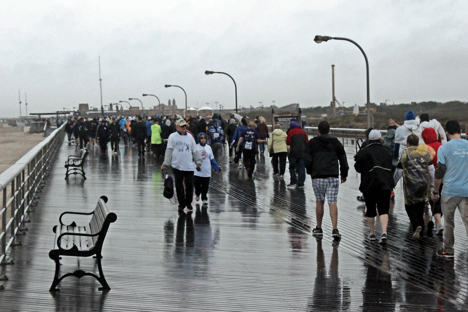 The rain didn't stop volunteers from walking for a cause.