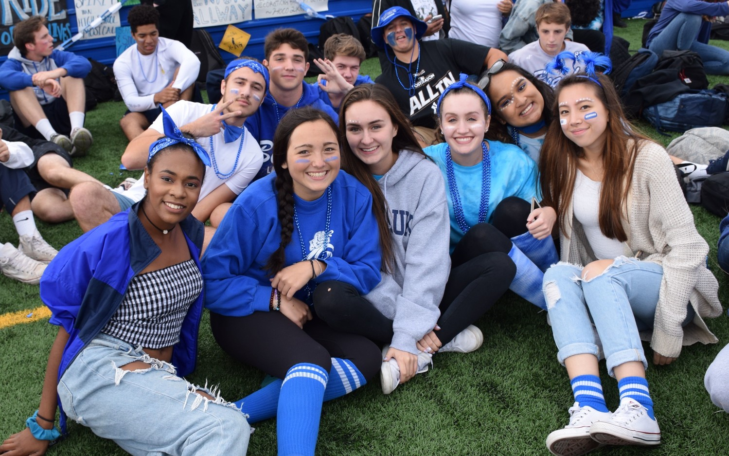 Students showed off their school spirit at the high school pep rally on Oct. 13.