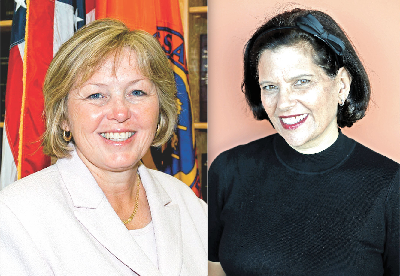Jane Smith Fisher, right, is challenging County Legislator in the 4th L.D.