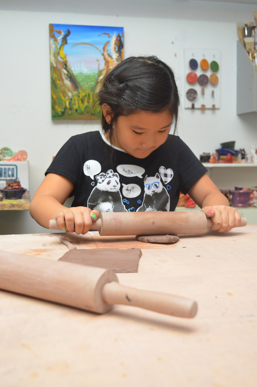 Vanessa Charoehert, 8, was hard at work on Oct. 15 for the CASK's open house.