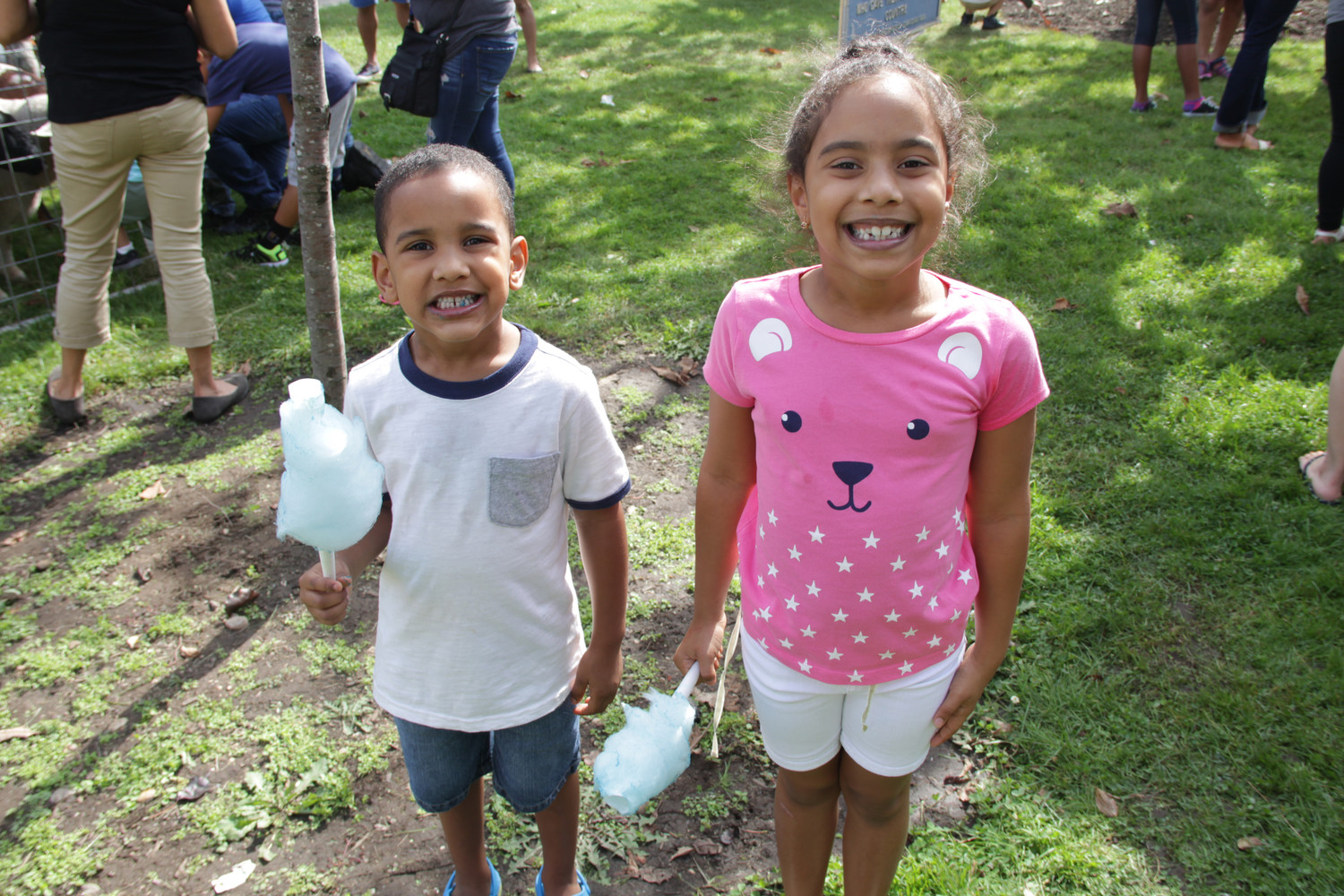 Brother and sister, Daury, 4, left and Nashla Santiago, 6, right loved the cotton candy at the festival.