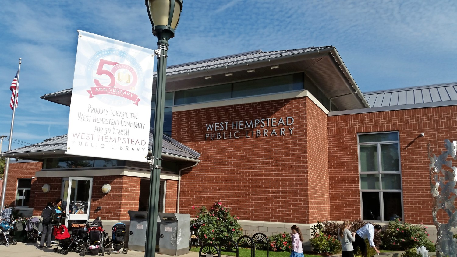 The West Hempstead Public Library celebrated its 50th anniversary last Sunday.