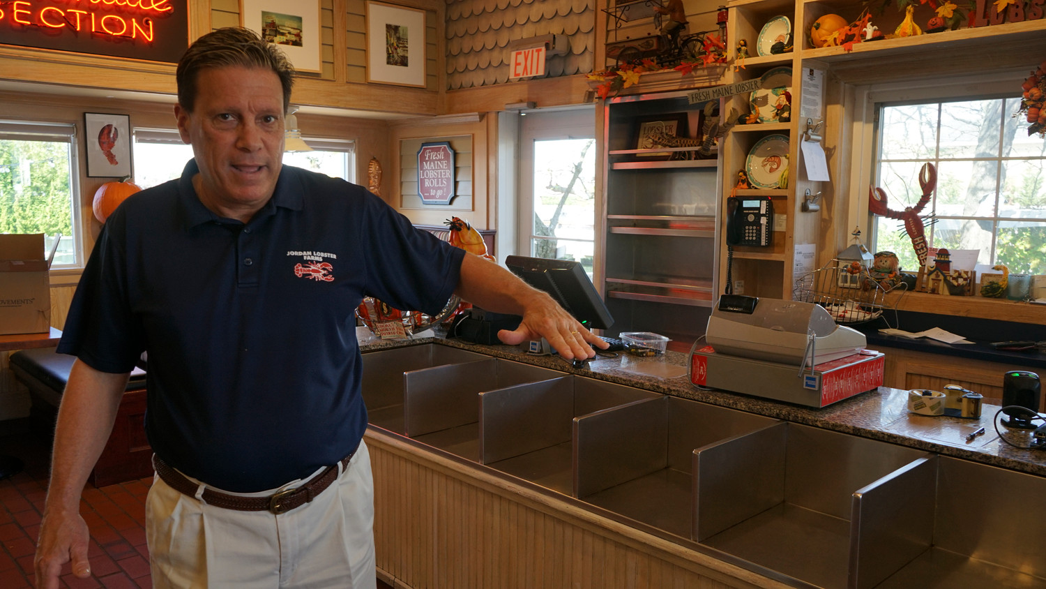 Stephen Jordan, co-owner of Jordan Lobster Farms, said roughly four feet of water entered the seafood establishment during the storm. It has since been reopened and expanded to partially fill the void left by Paddy McGees.
