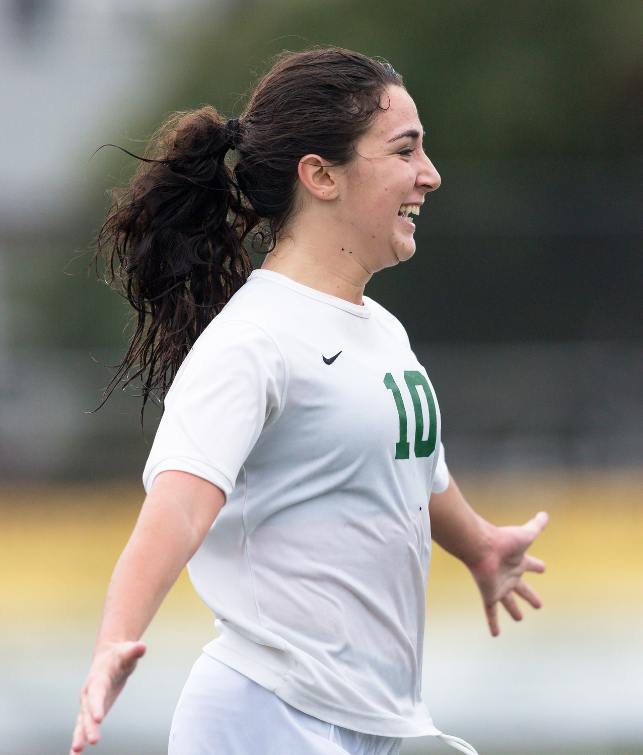 Senior Gina Giovinco scored twice during the 20-minute mandatory overtime to help Lynbrook beat Valley Stream North, 3-1, in a Nassau Class A first-round playoff game Oct. 24.
