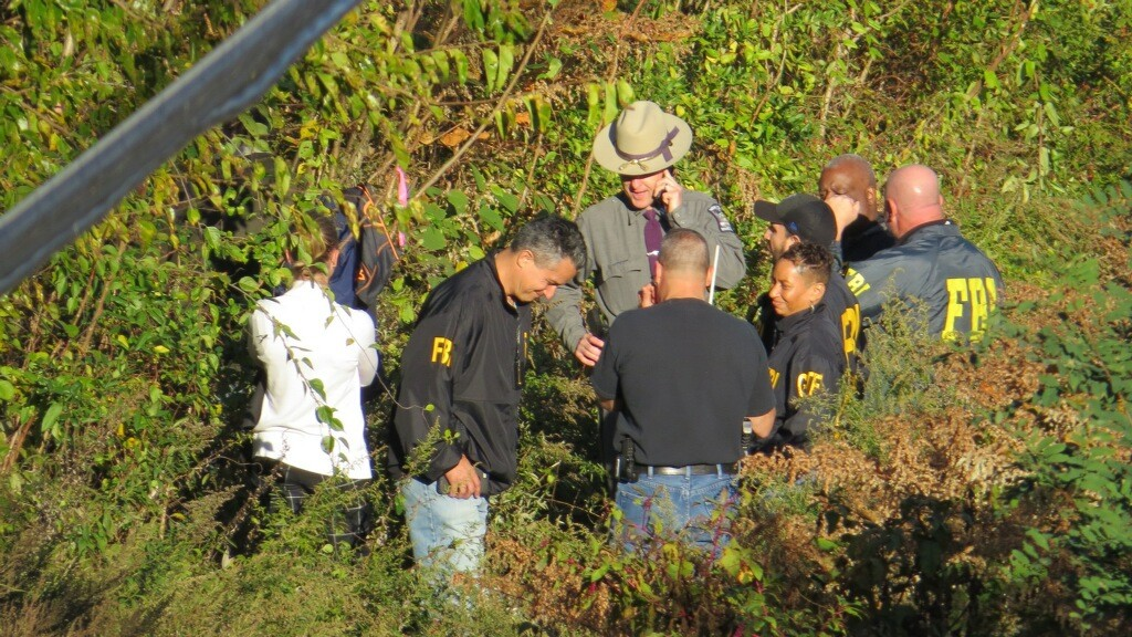 FBI agents and New York State and Nassau County police combed the forest in search of Pineda on Oct. 27