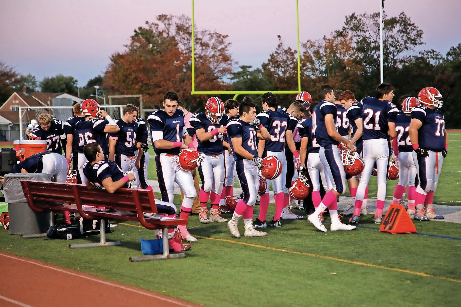 The MacArthur High School football team sported pink socks at its sixth annual Pink Out game and fair on Oct. 20.