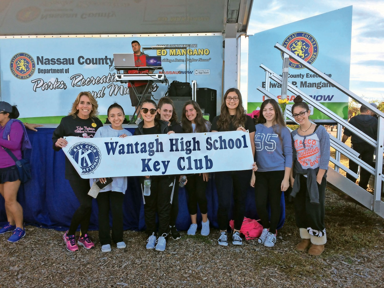 The Wantagh High School Key Club attended the American Foundation for Suicide Prevention's Out of Darkness 5K to help raise money for suicide prevention. Thousands of people gathered for the event at Jones Beach State Park on Oct. 22.
