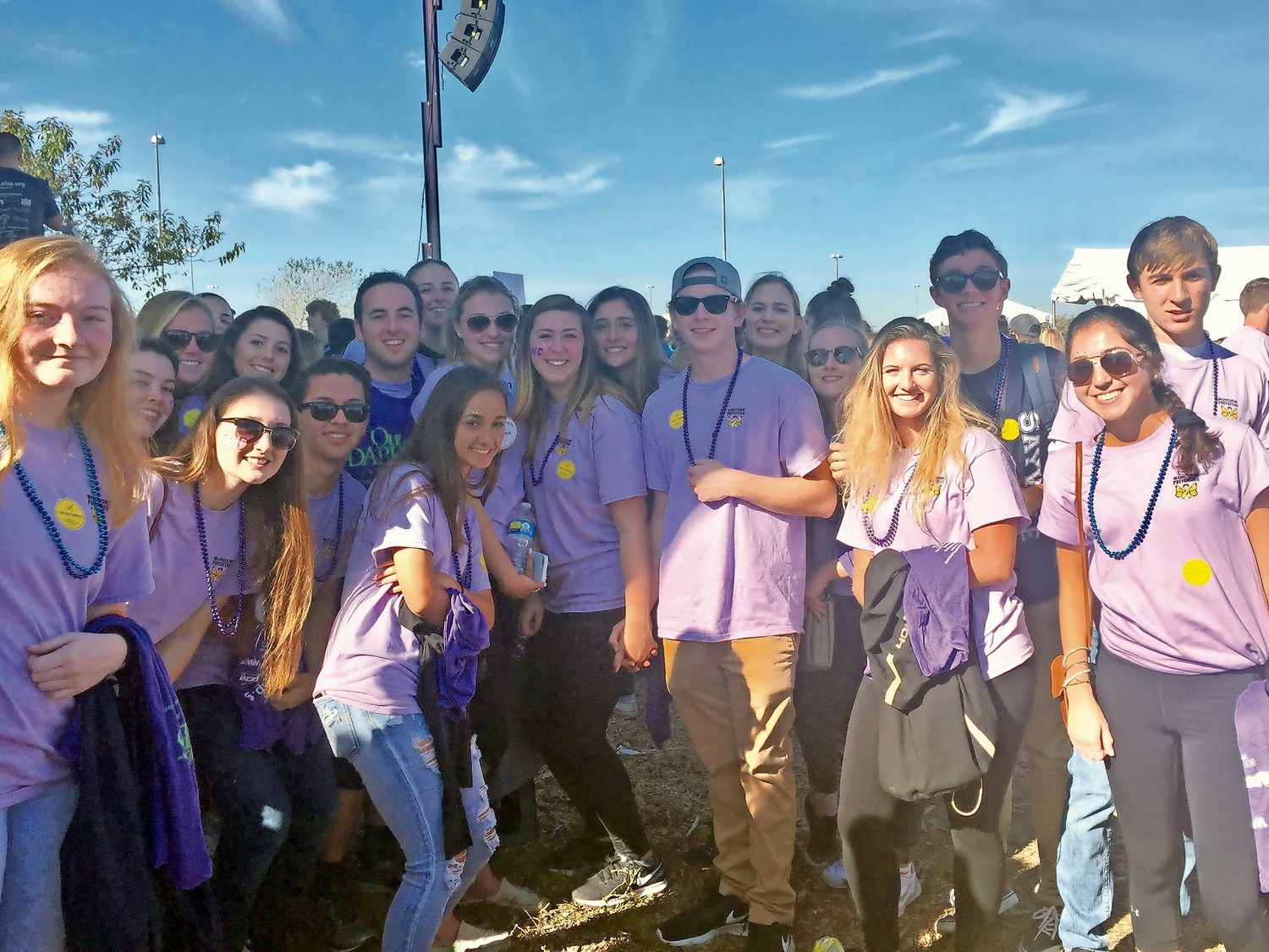 Team Emma was the second top fundraising team for the Out of Darkness Walk. The Sayville High School students raised over $16,000 in just one week.