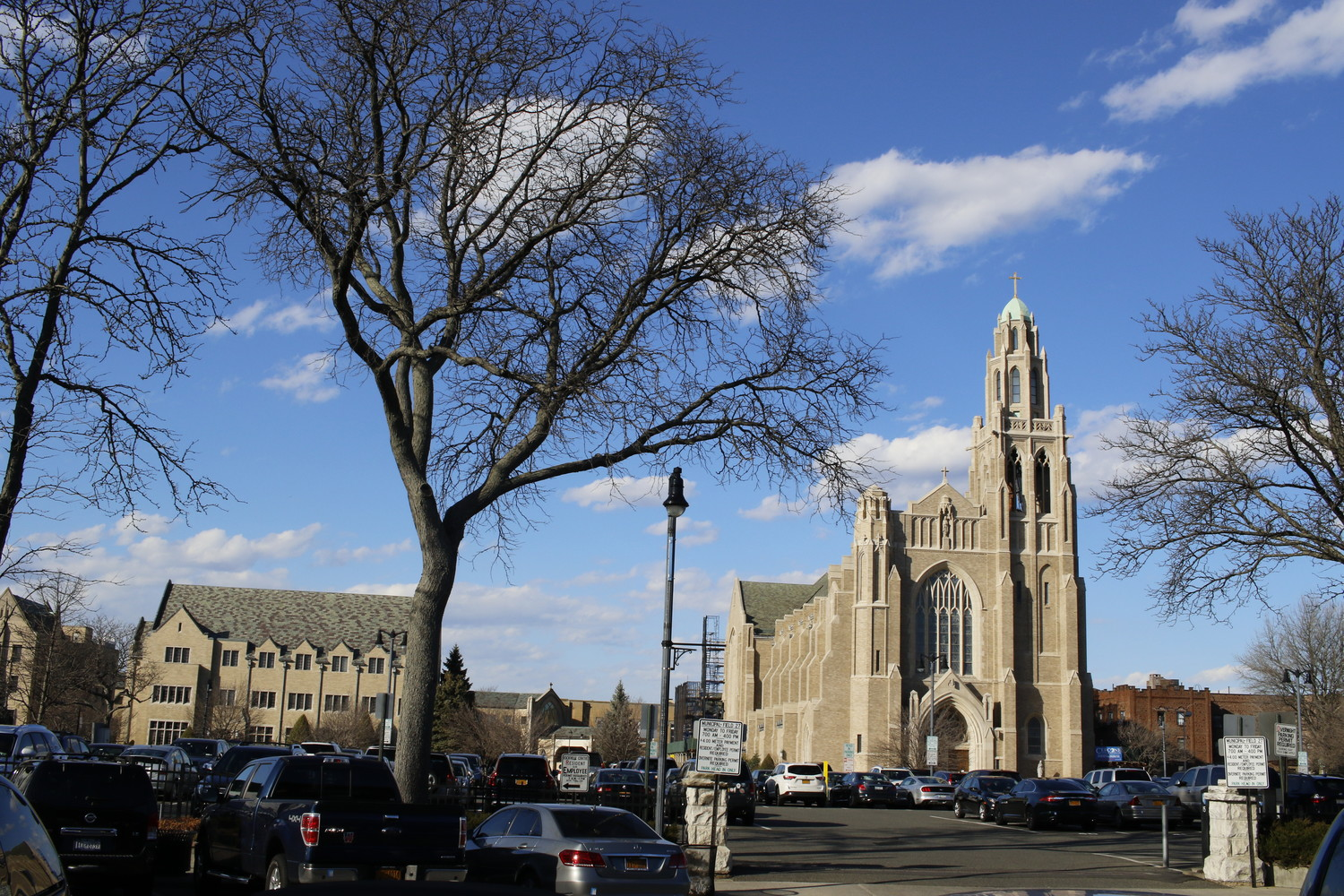 A 48-year-old Rockville Centre man claims that a St. Agnes Cathedral priest sexually abused him beginning in 1983.
