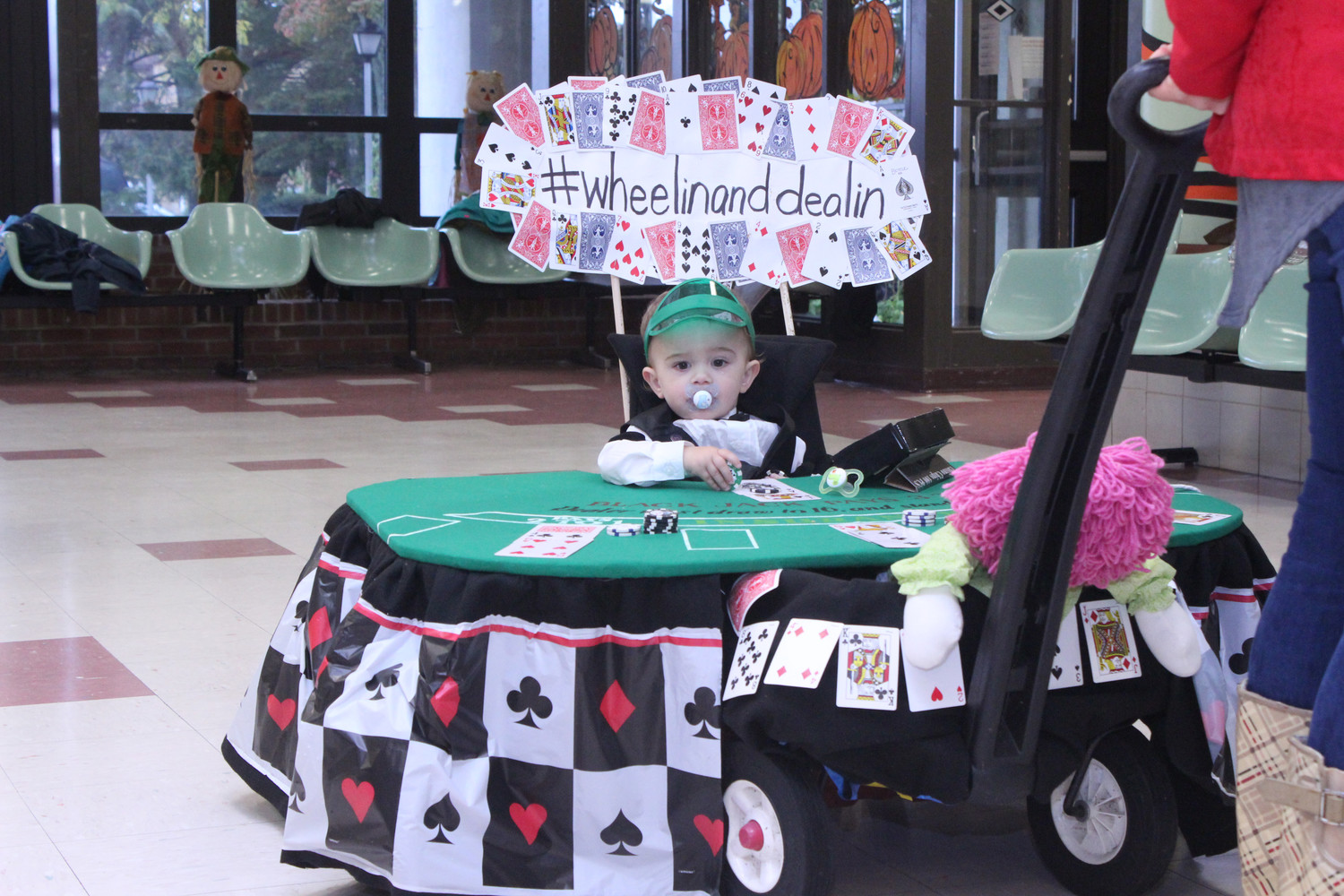 In the running for best costume was 1-year old Ryan Neuber, a black jack dealer with his own traveling casino.