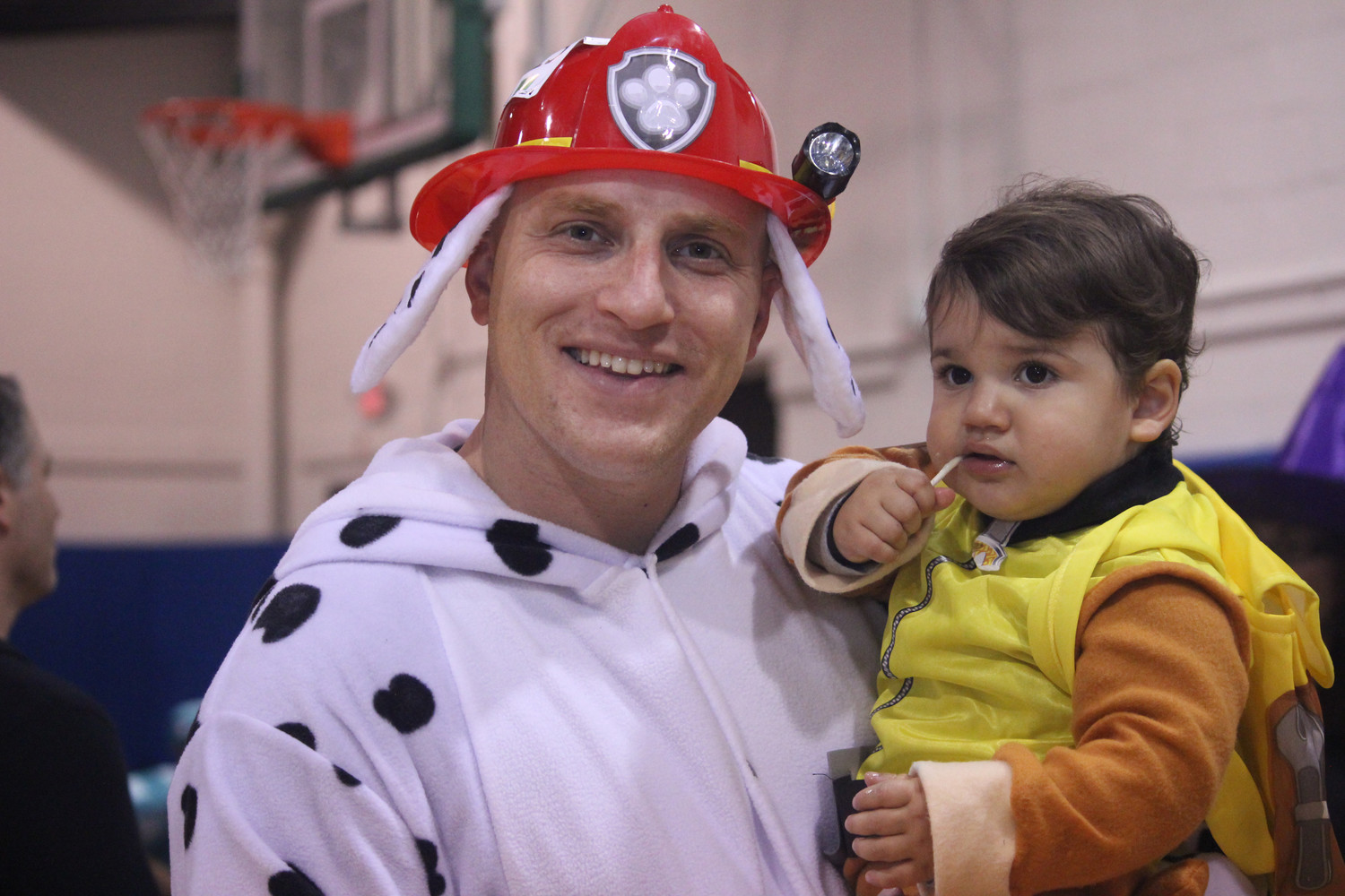 Jeff Flashner and his son, Nathan, 20 months old, got into the Halloween spirit.
