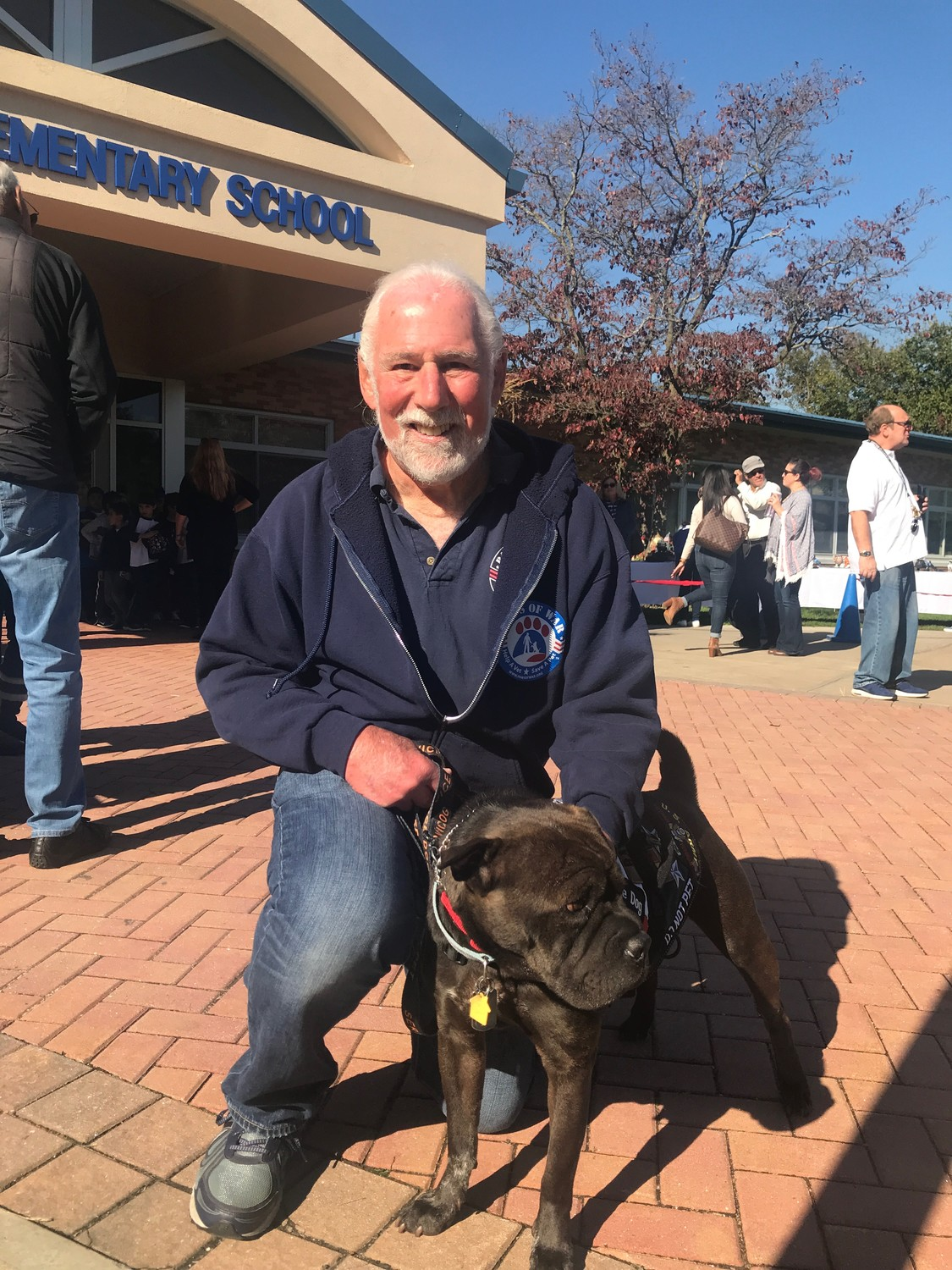 Vietnam veteran, Lionel Bauman with Mr. Wrinkles at the Ogden Elementary School Make a Difference Day on Oct. 27.