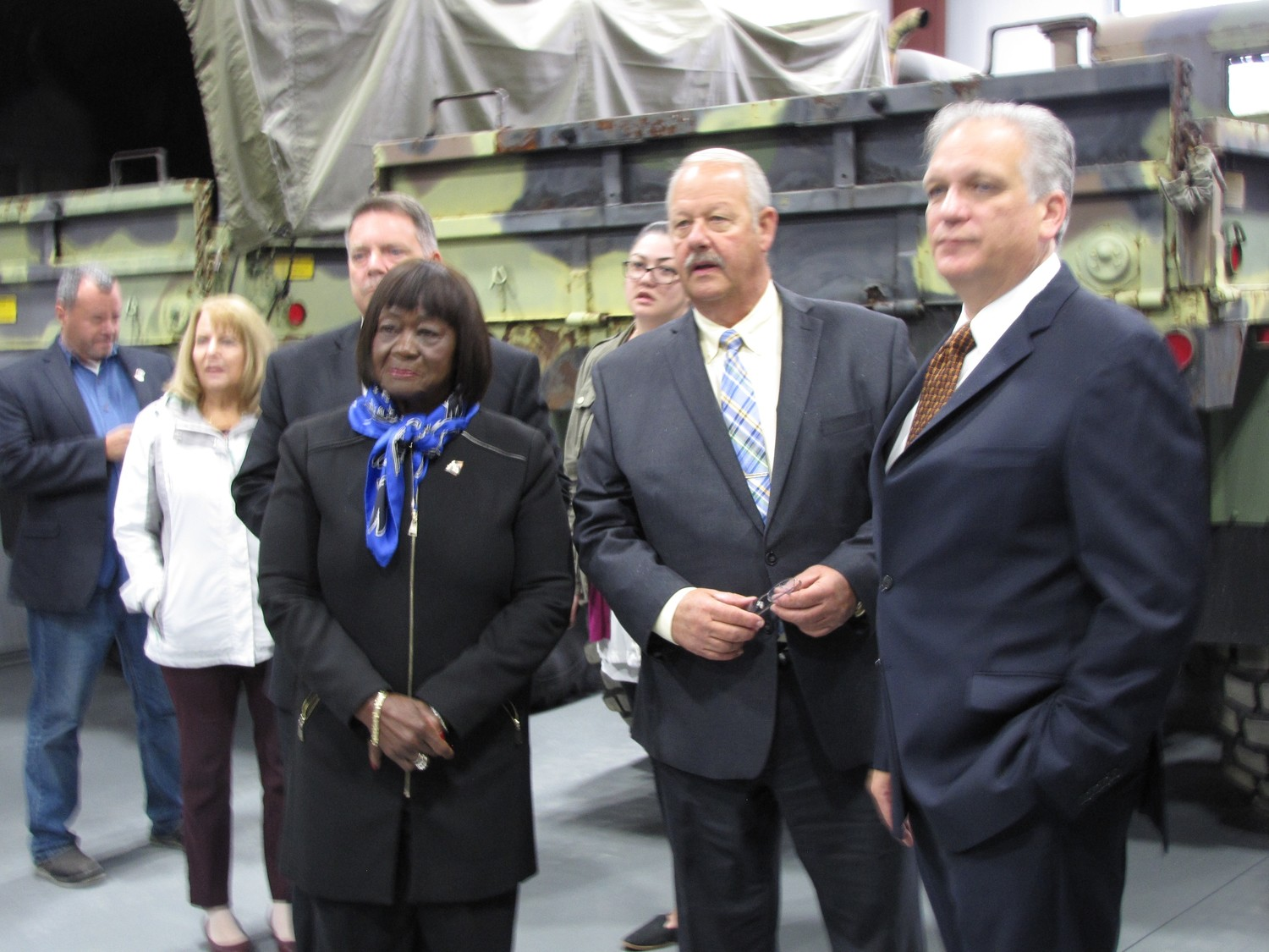 Among the attendees at the Freeport emergency management center's opening were Town of Hempstead Councilwoman Dorothy Goosby, left, Mayor Robert Kennedy and Nassau County Executive Ed Mangano.