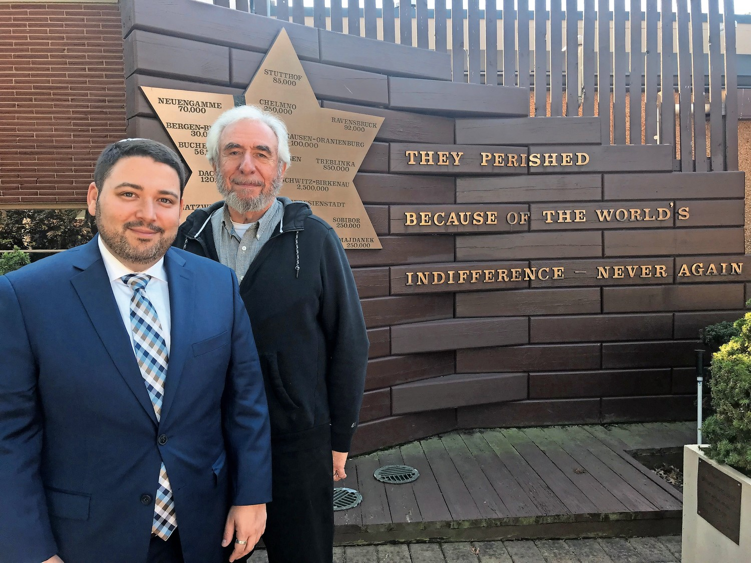 Rabbi Daniel Bar-nahum of Temple Emanu-El of East Meadow, and Rabbi Howard Nacht of Wantagh's Temple B'Nai Torah prepare to join synagogues next July.