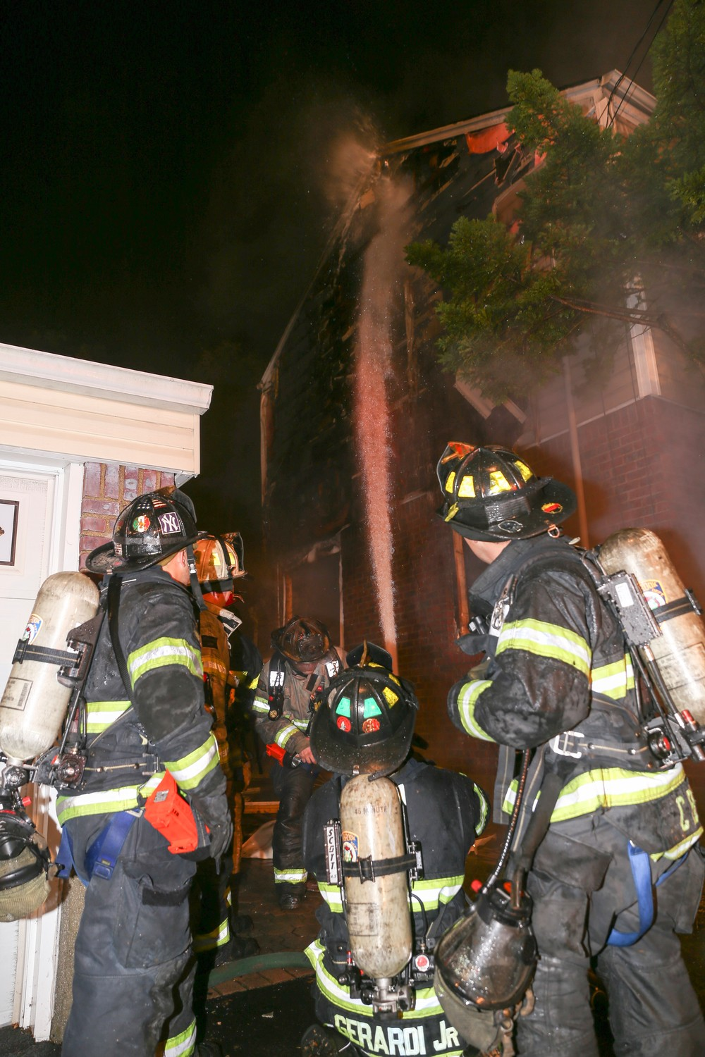 Firefighters battled the blaze until 6 a.m.